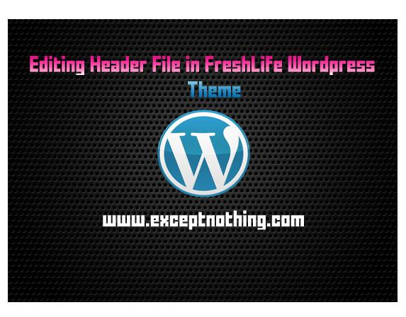 Editing Header File in FreshLife WordPress theme