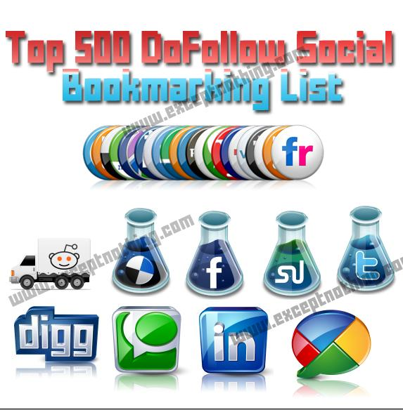 images sites list. Top 500 DoFollow Social Bookmarking Sites List