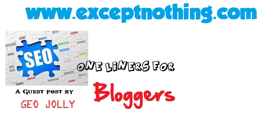 SEO One Liners for Bloggers