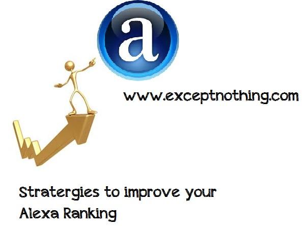 Statergies to Improve Alexa Ranking